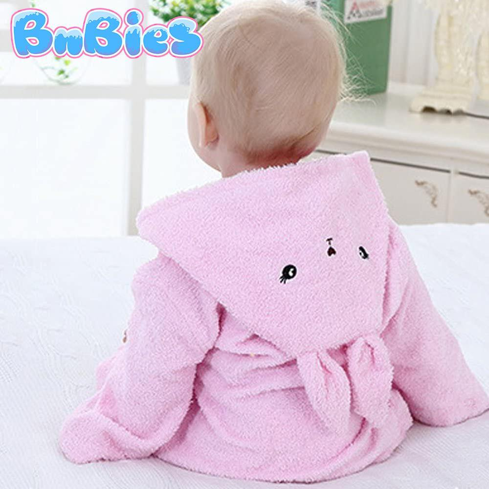 Pink Bunny Hooded Cotton Bathrobe - Bnbies