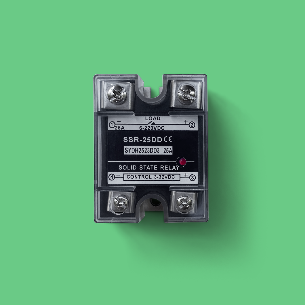 This Solid State Relay (SSR) is perfect for Precious Plastic recycling machines