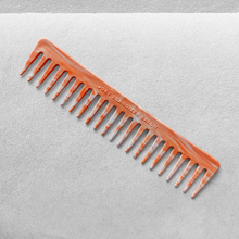 Load image into Gallery viewer, 100% reclaimed / recycled plastic - wide tooth detangling comb made from bottle tops / caps