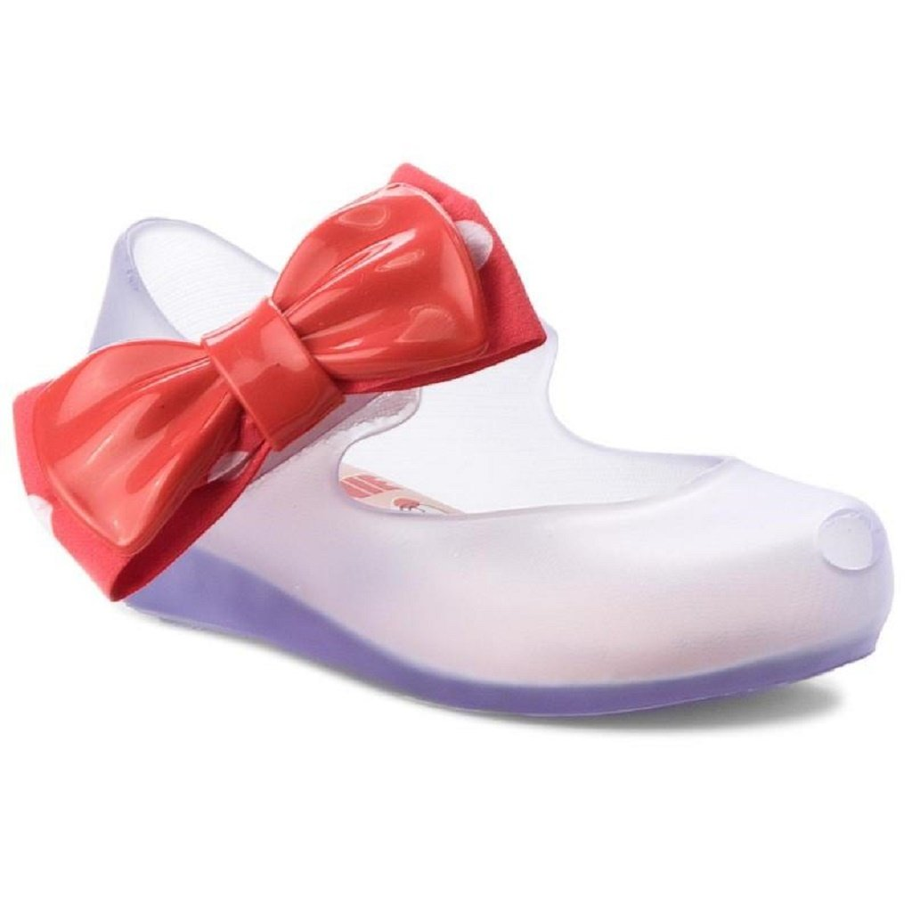 Mini Melissa Ultra Girl Shoe in Clear/Red