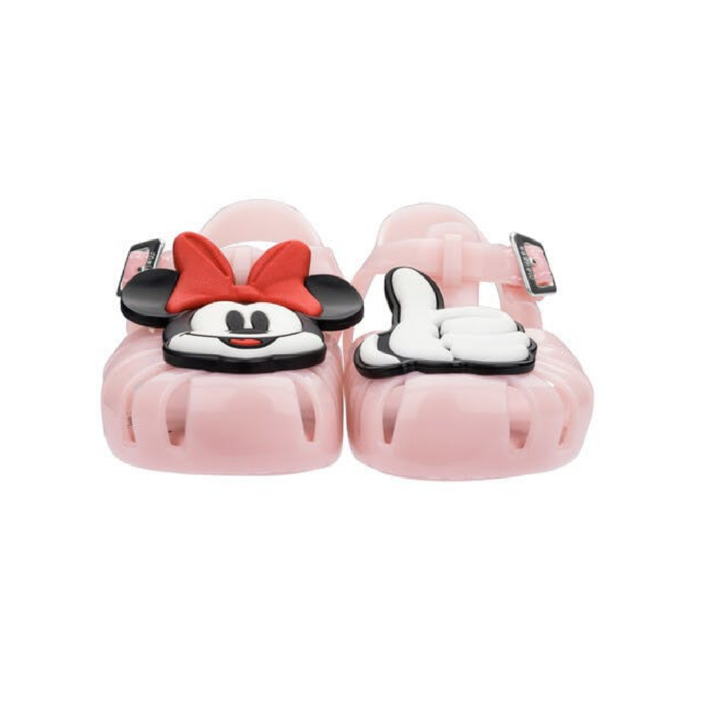 MINI MELISSA ARANHA + MICKEY SHOE in Pink/White