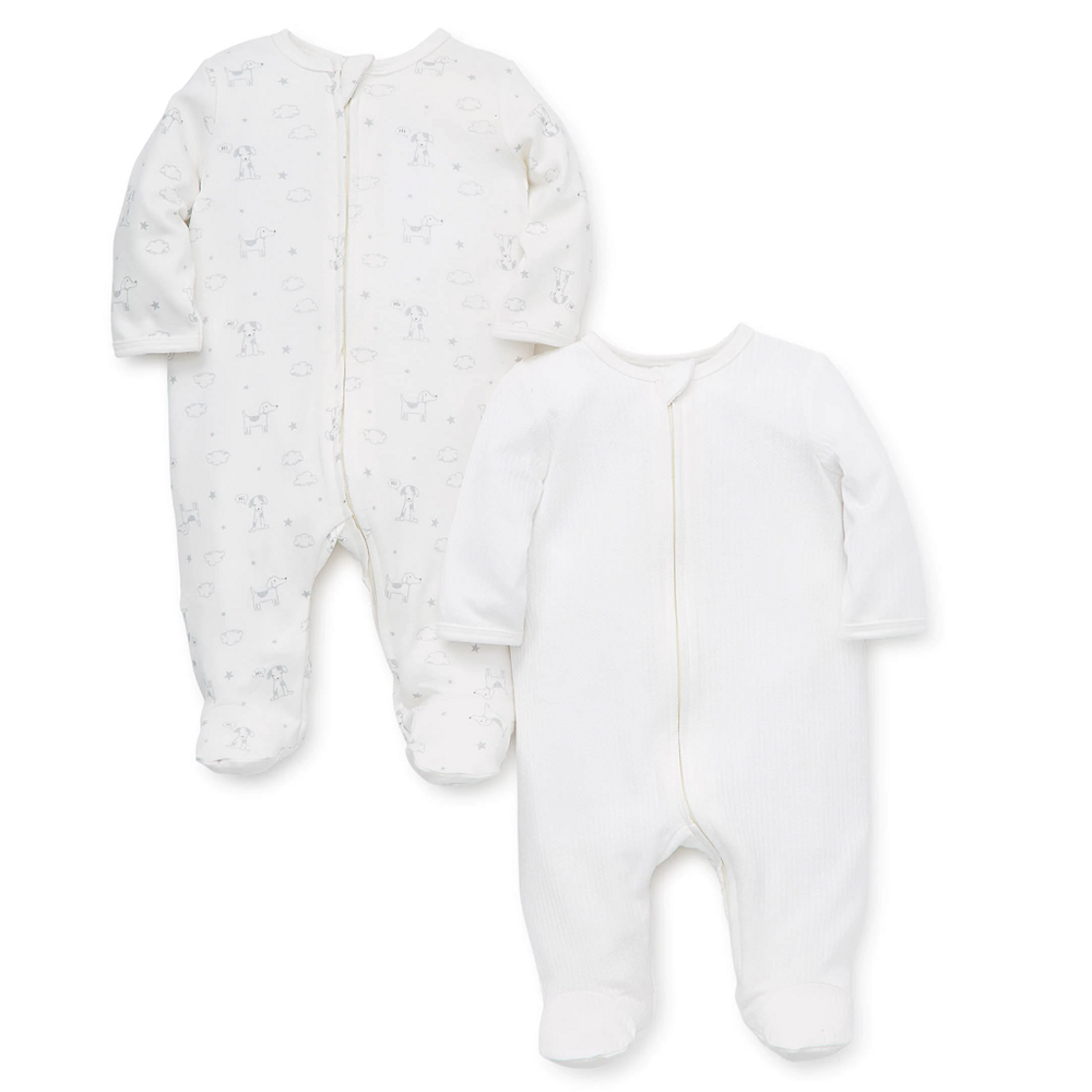 Little Me Layette Collections Puppy Pals 2-Pack Footies