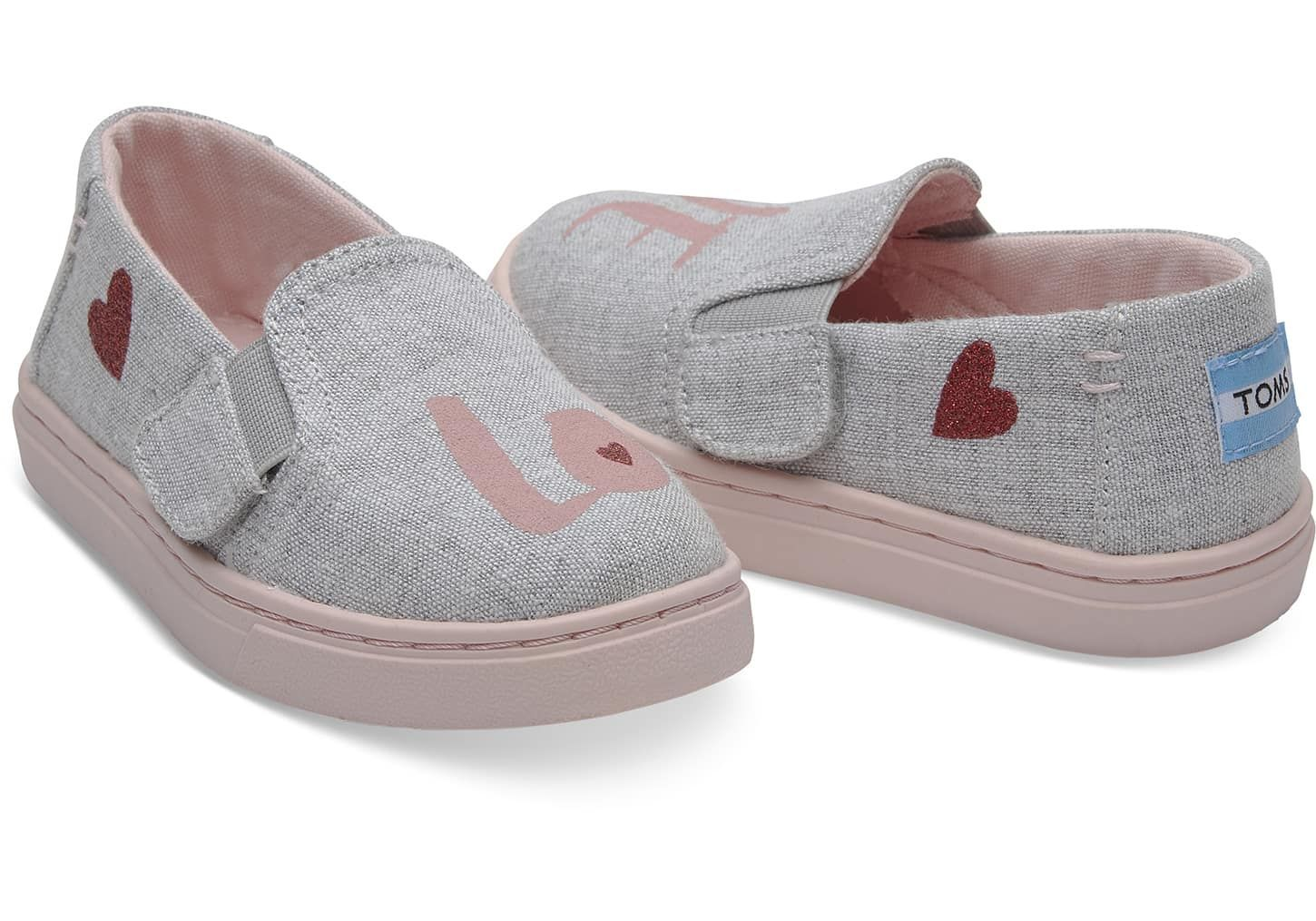 Tiny Toms DRIZZLE GREY LOVE TN LUCA SLIPON