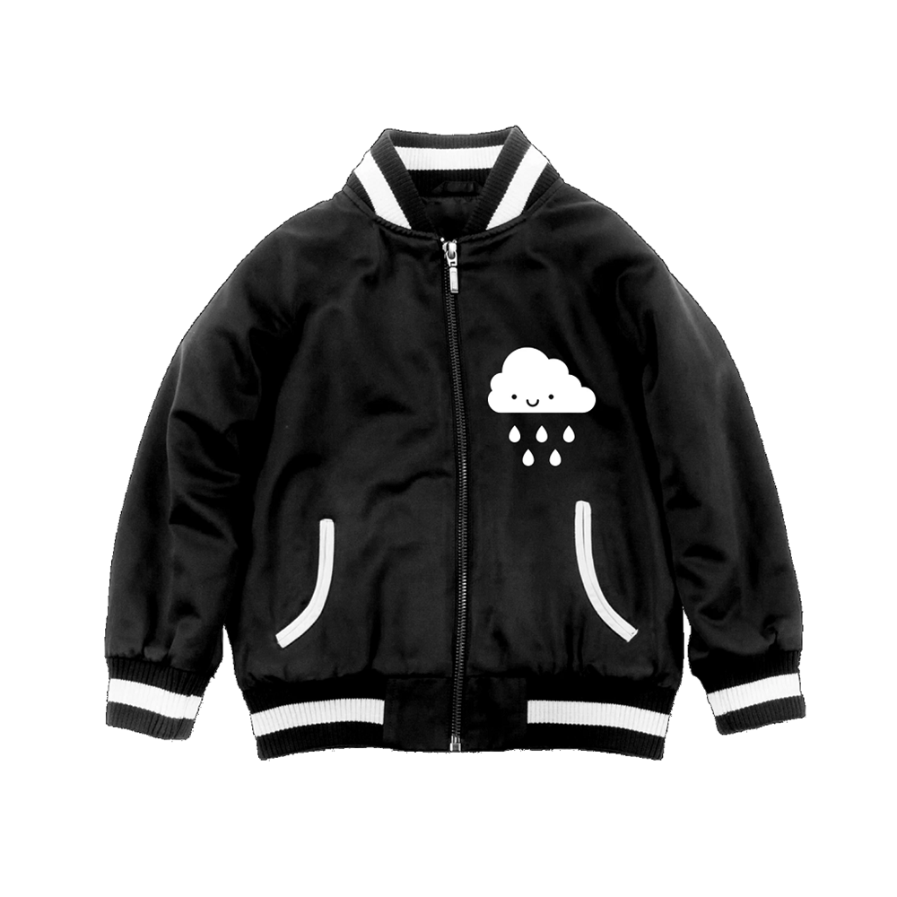 Whistle and Flute Kawaii Cloud Bomber Jacket