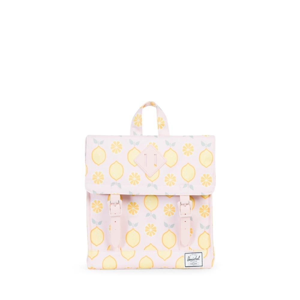 Herschel Survey Kids Backpack in Lemon Drop/Cloud Pink Rubber