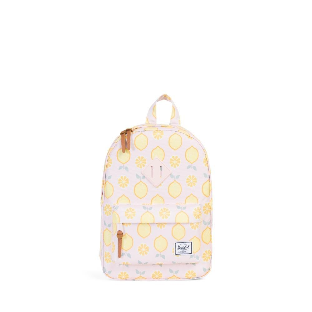 Herschel Heritage Kids Backpack in Lemon Drop/Cloud Pink Rubber