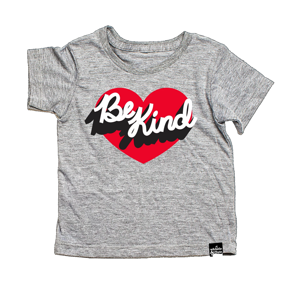 Whistle and Flute Be Kind Heart T-Shirt
