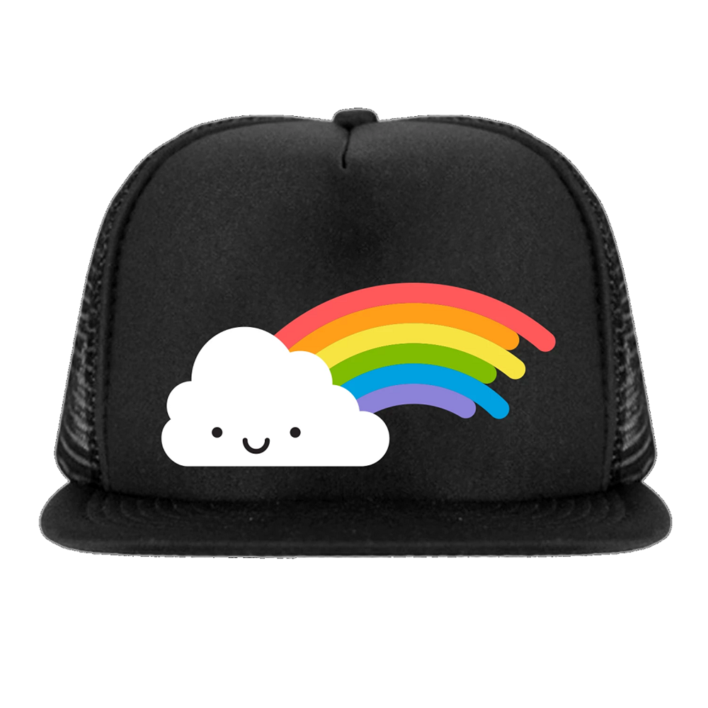 Whistle and Flute Kawaii Rainbow Snapback Trucker Cap
