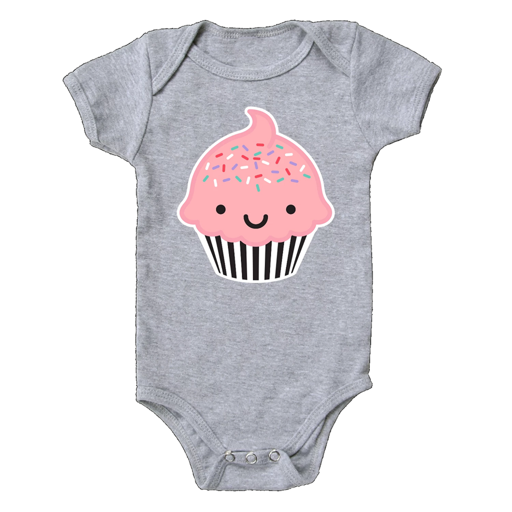 Whistle and Flute Kawaii Cupcake Bodysuit
