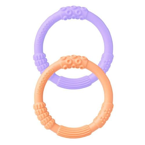 Lifefactory Teethers Lavender/Cantaloupe