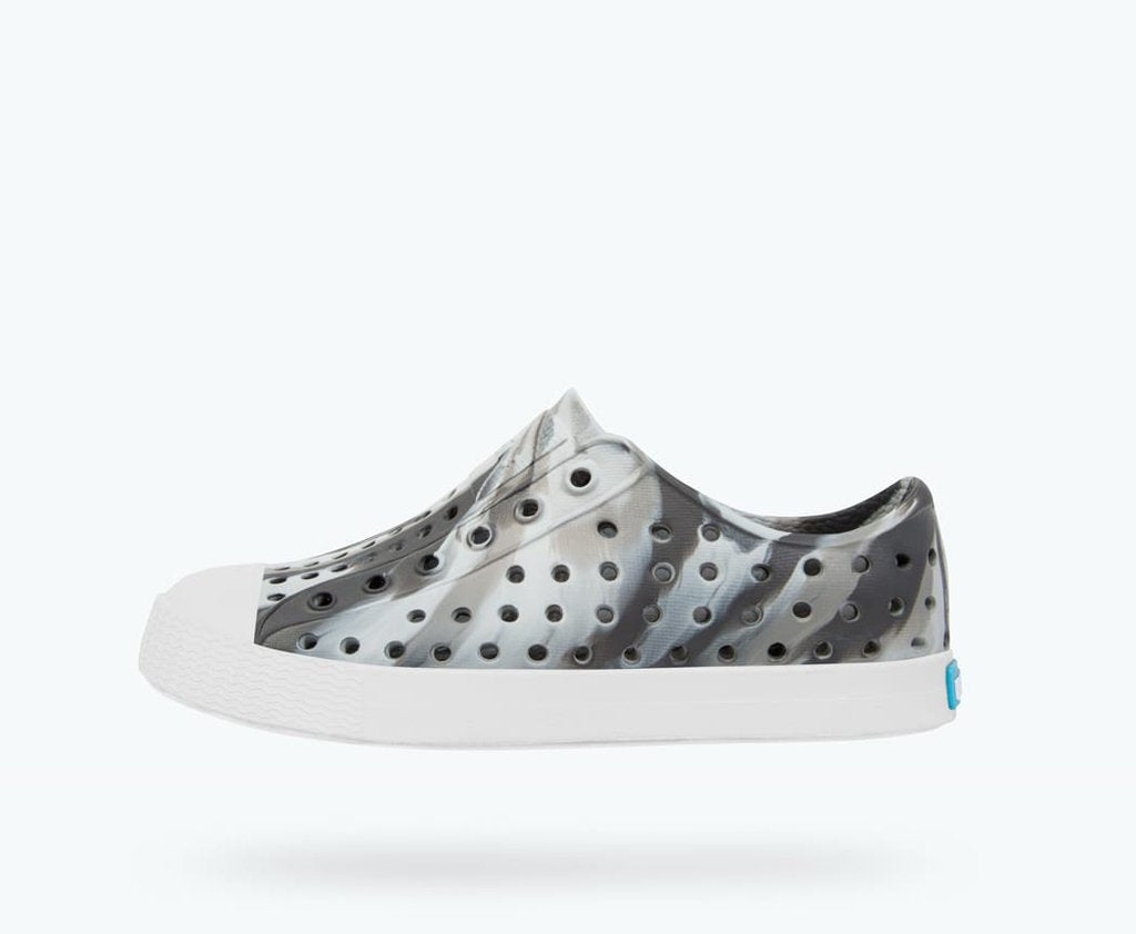 Native Shoes Jefferson Marbled Junior in DUBLIN GREY / SHELL WHITE