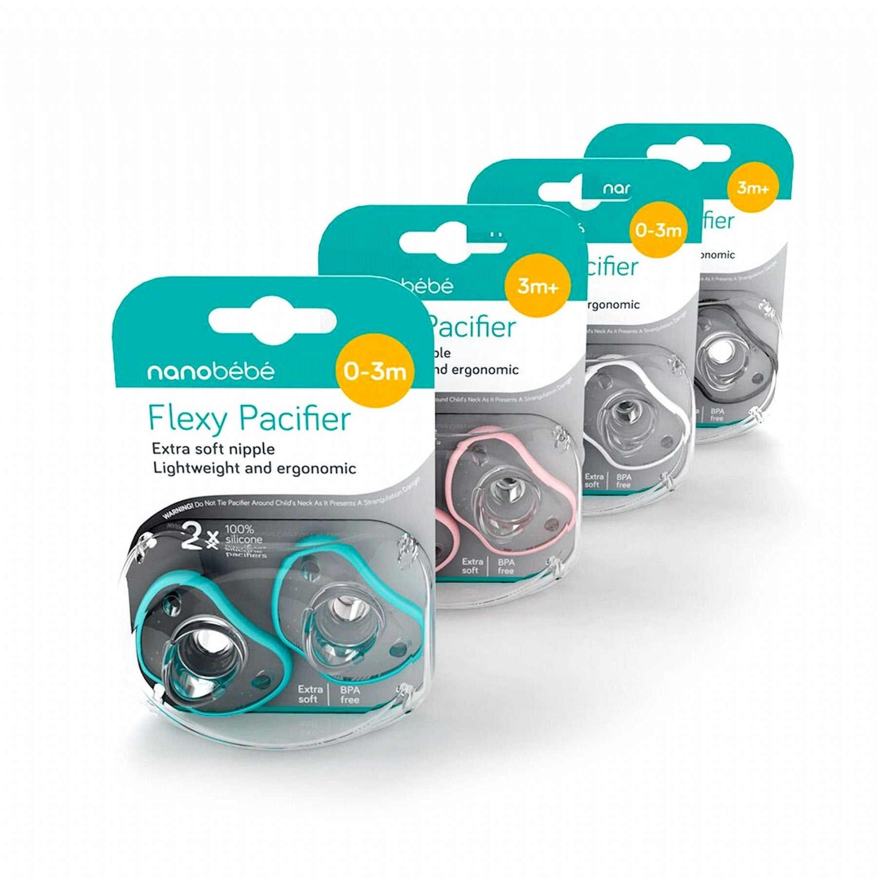 Nanobebe Flexy Pacifier Twin-Pack