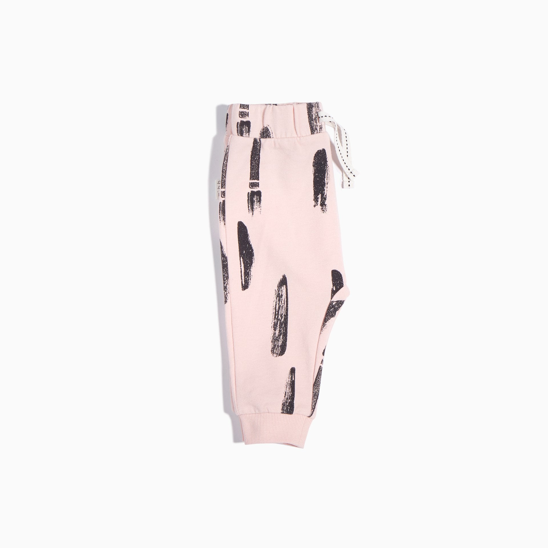 Miles Baby PINK AND GREY PAINT STROKE JOGGER PANT