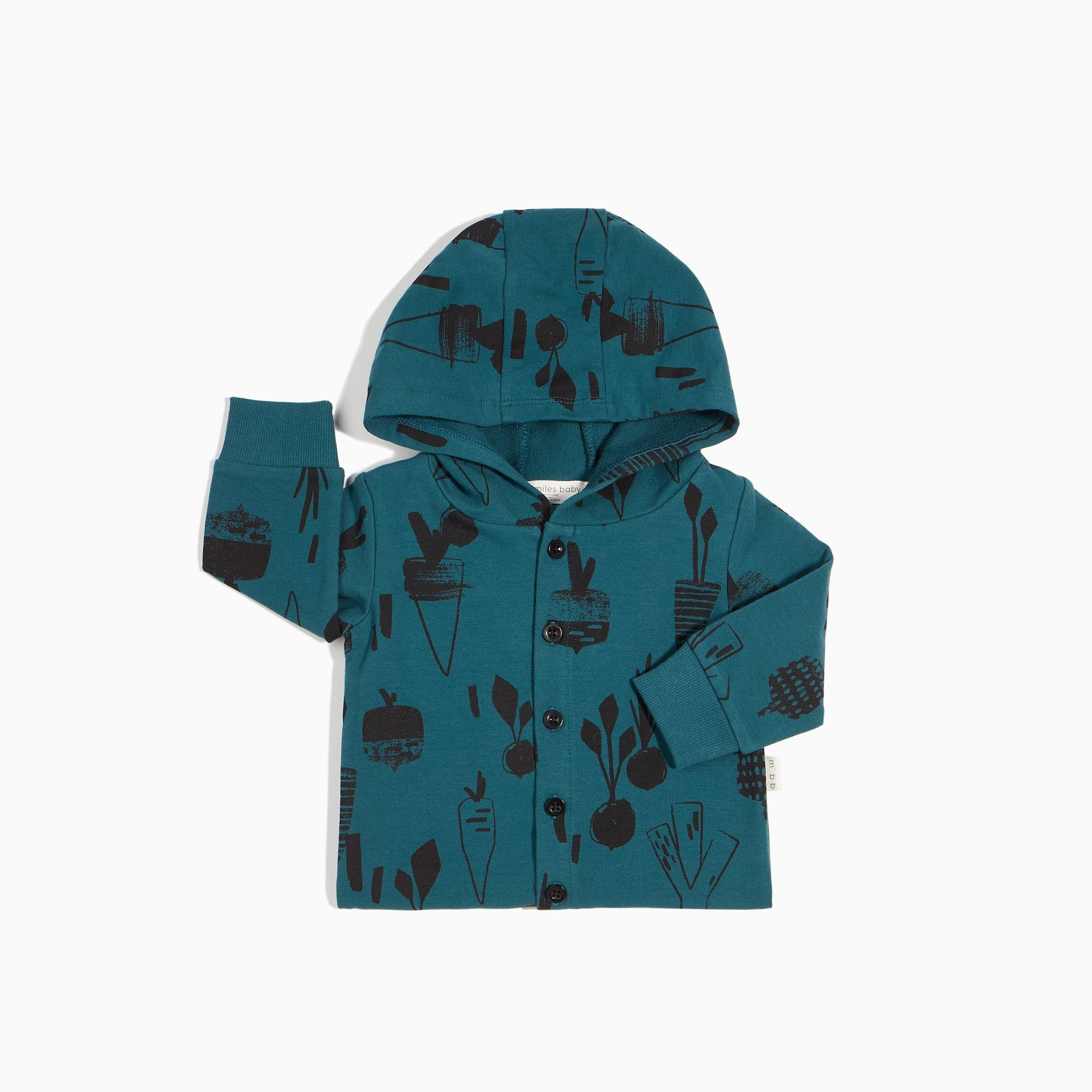Miles Baby HOMEGROWN HOODED PLAYSUIT