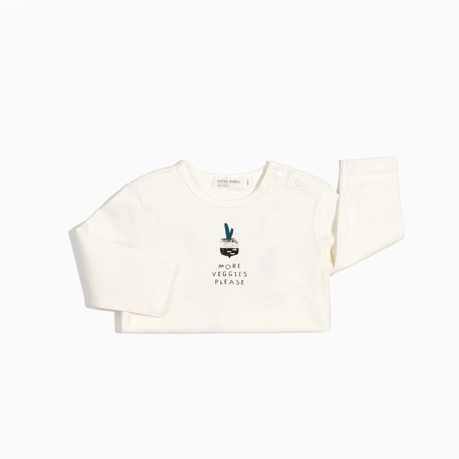 "Miles Baby ""MORE VEGGIES"" LONG SLEEVE TOP"