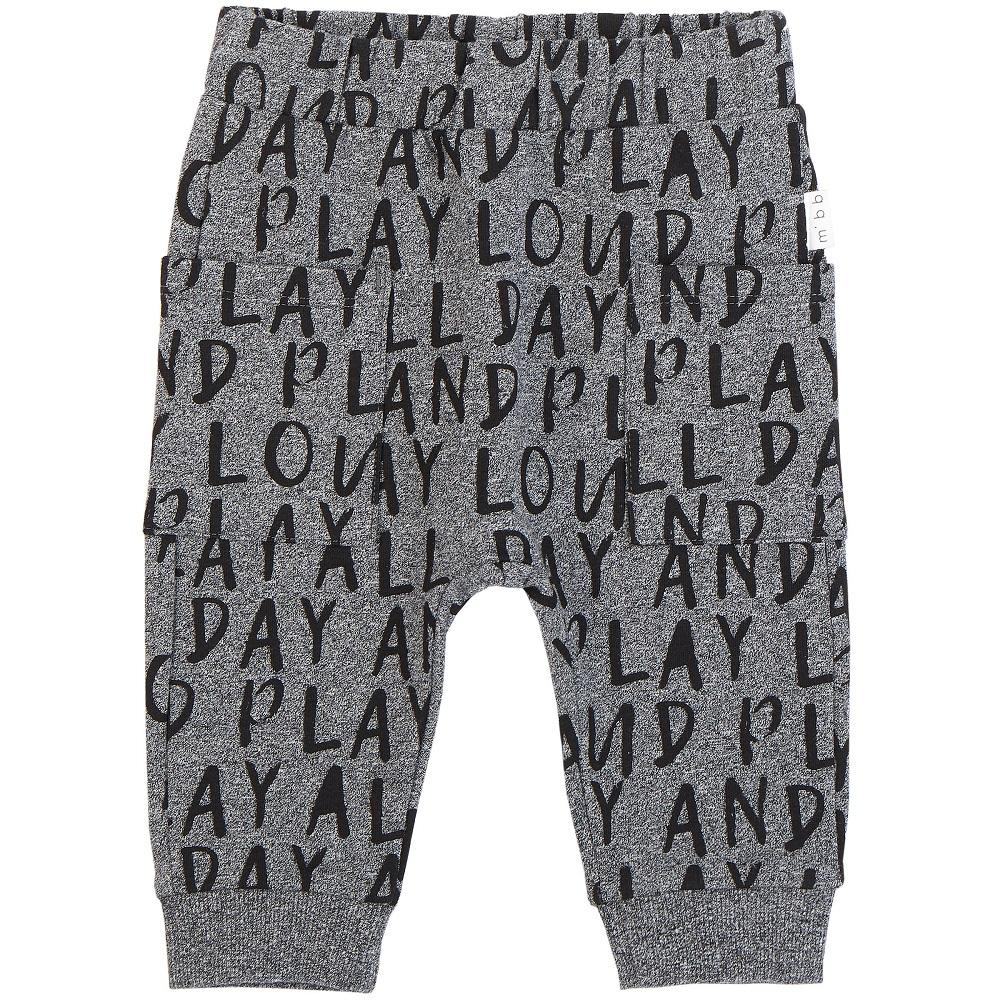 Miles Baby/Unisex Pant Knit in Medium Heather Grey