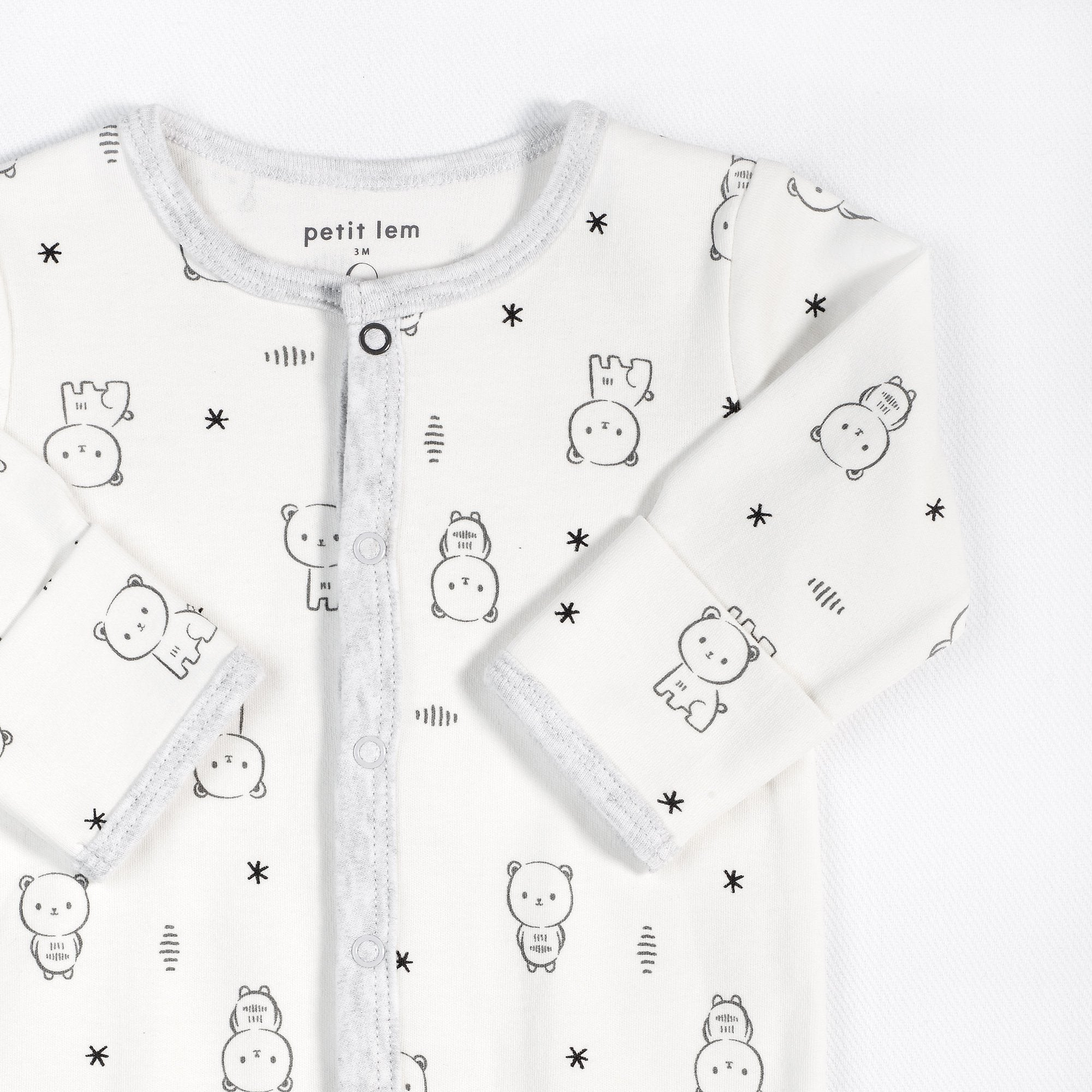 "Petit Lem ""Baby Bear"" Sleeper with Organic Cotton"