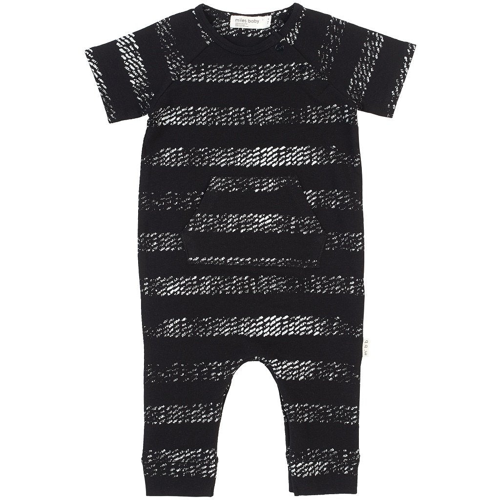 Miles Baby BLACK TIRE MARKS PLAYSUIT