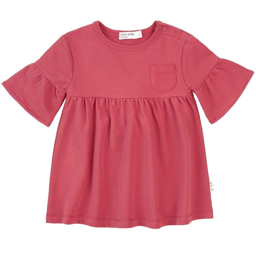 Miles Baby Baby Dress Knit in Red