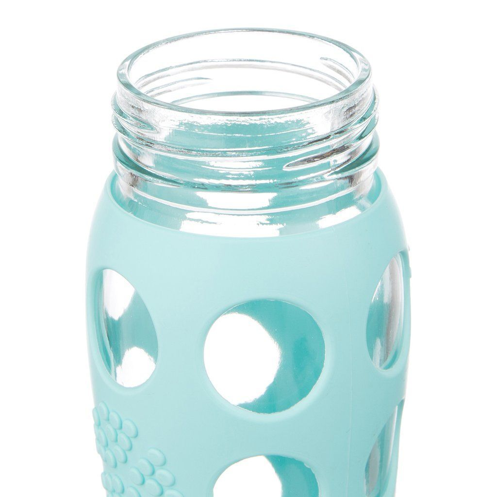 Life Factory 650 ml/ 22 oz Flip Cap Glass Bottle in turquoise