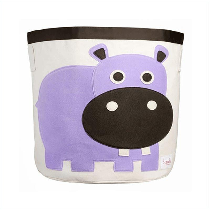 3 Sprouts Hippo Storage Bin in Purple