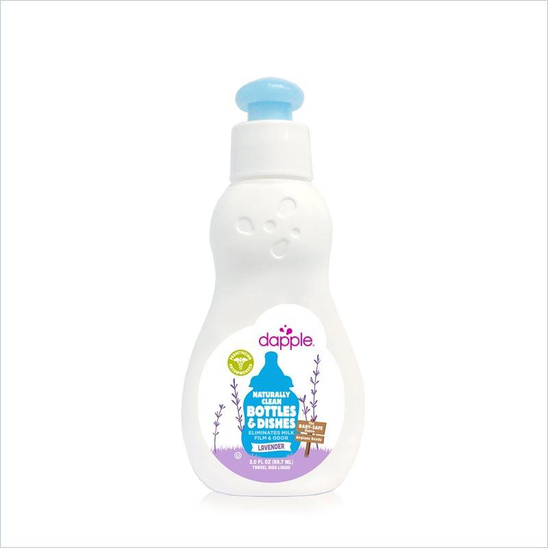 Dapple Baby 89ml Travel Size Bottle and Dish Liquid in Lavender