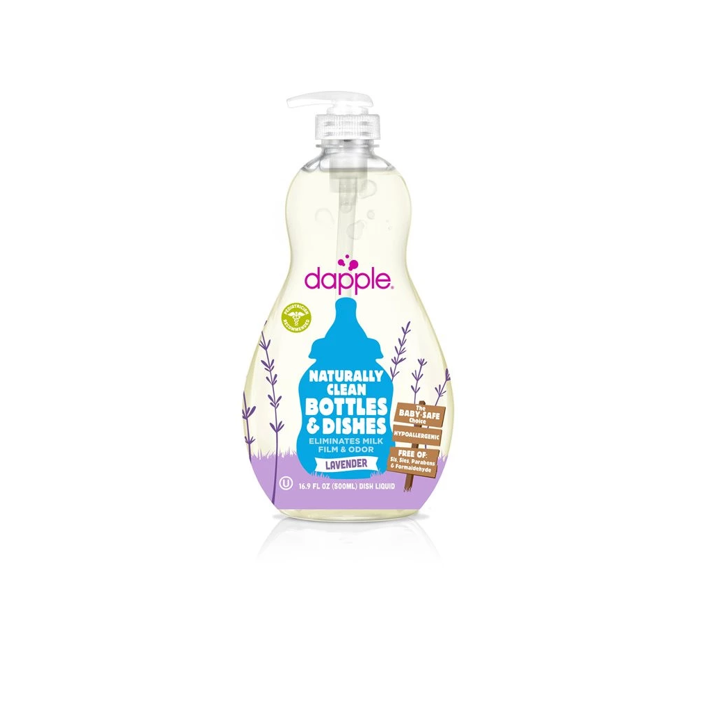 Dapple Baby 500ml Bottle and Dish Liquid in Lavender