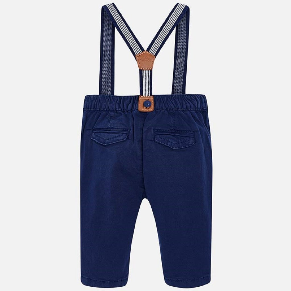 Mayoral Long trousers with suspenders in Navy
