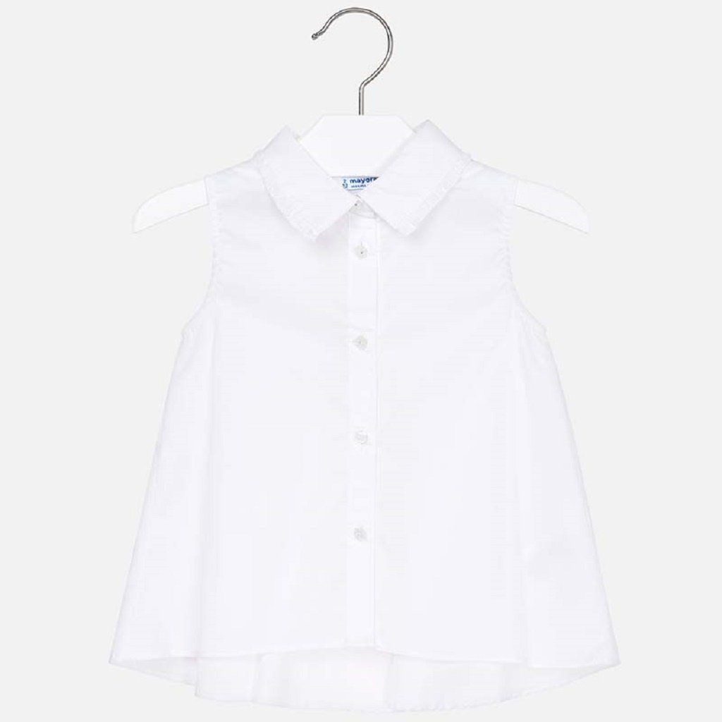 Mayoral Sleeveless flared blouse for girl in White