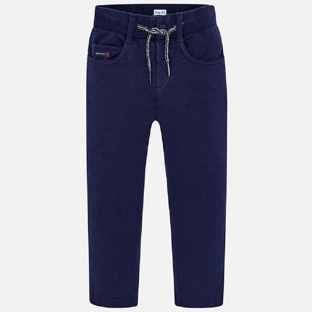Mayoral Fleece trousers for boy in navy