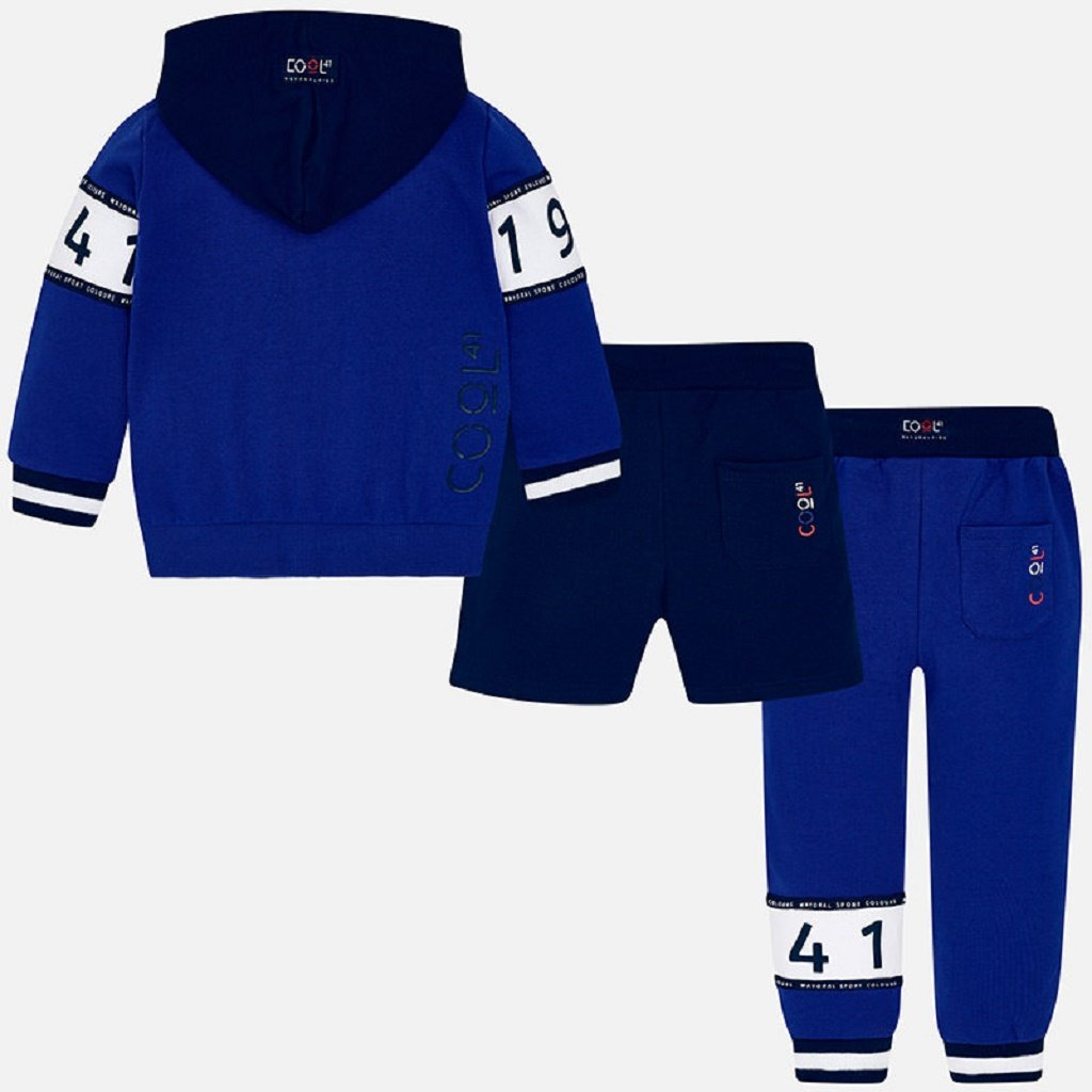 Mayoral 1941 tracksuit for boy in Royal blue