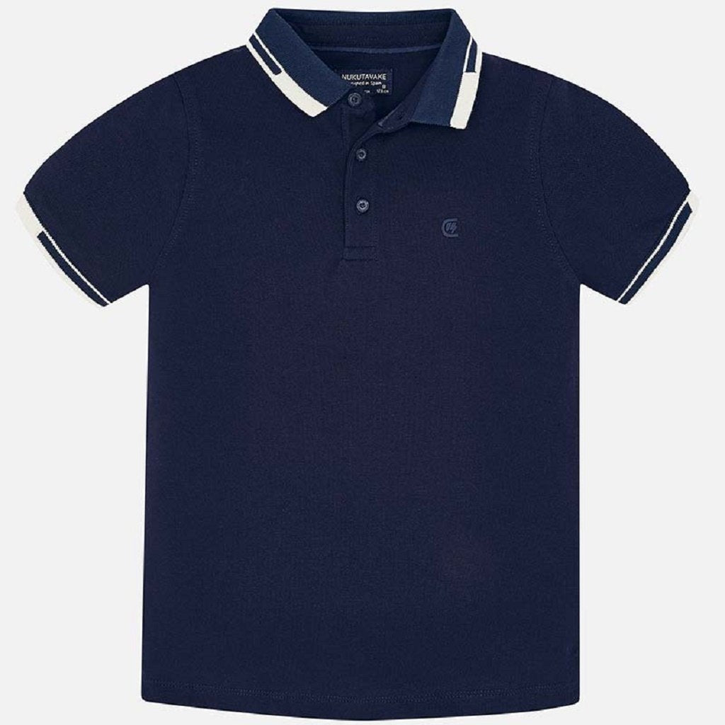 Mayoral Short sleeved contrast details polo shirt for boy