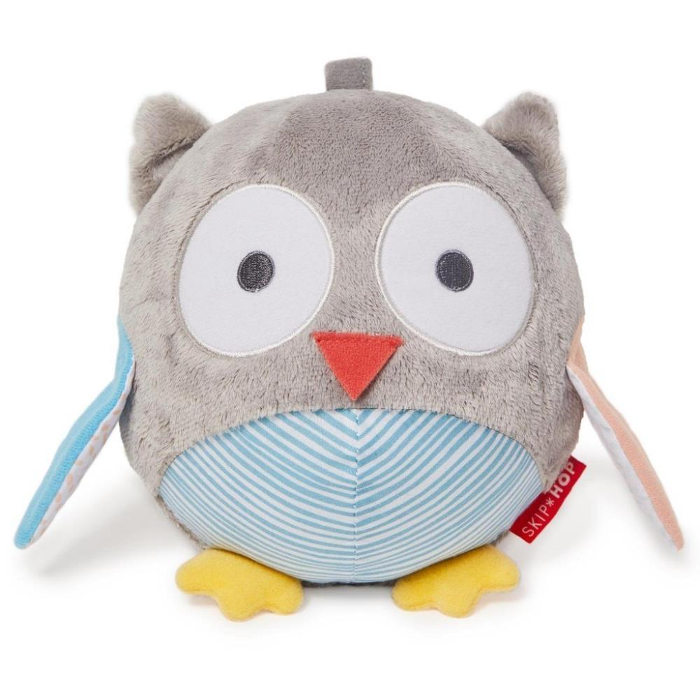 Skip Hop Treetop Friends Developmental Toys Owl Chime Ball Grey And Pastel