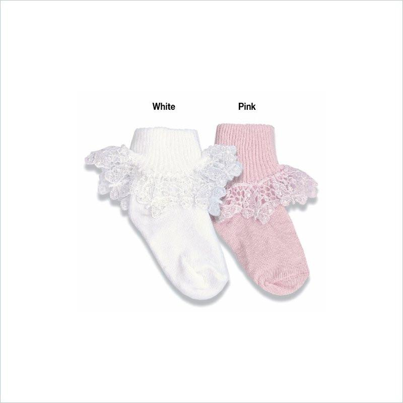 Country Kids Butterfly Lace Socks in White