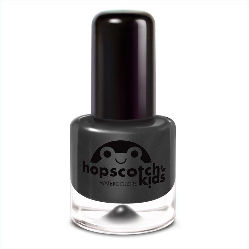 Hopscotch Kids Miss Mary Mack Kids Water Color Nail Polish in Black with Silver Sparkles