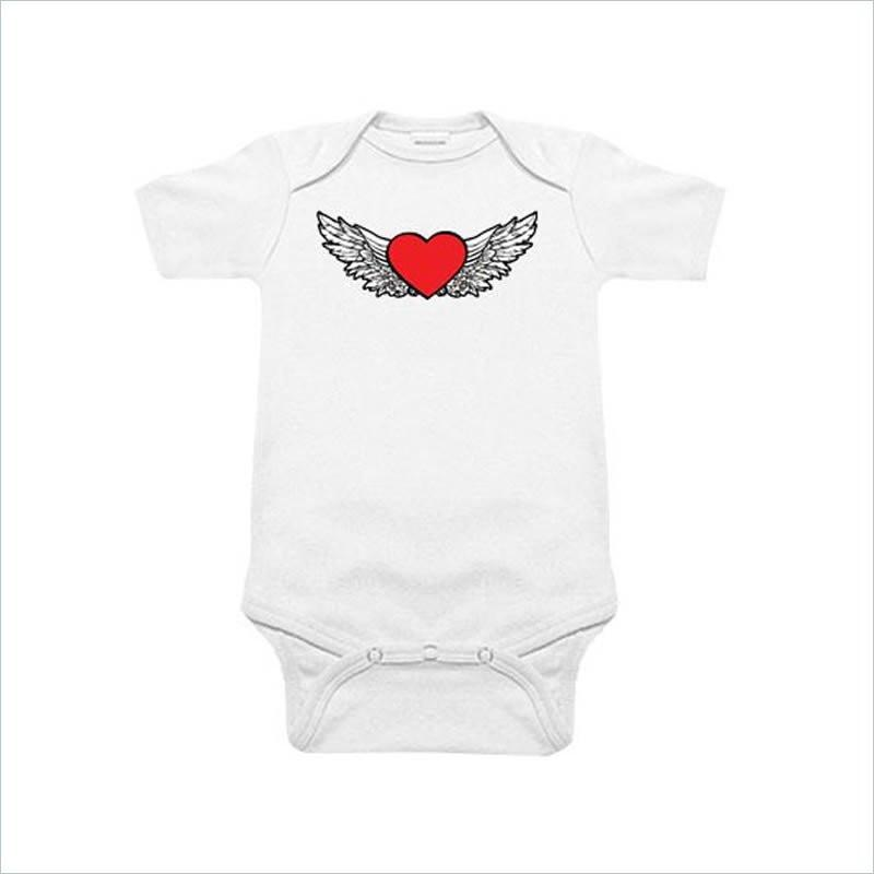 Sookie Baby 100% Cotton Diaper Shirt - Heart & Wings