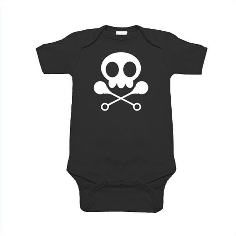 Sookie Baby 100% Cotton Diaper Shirt - Skull & Rattles