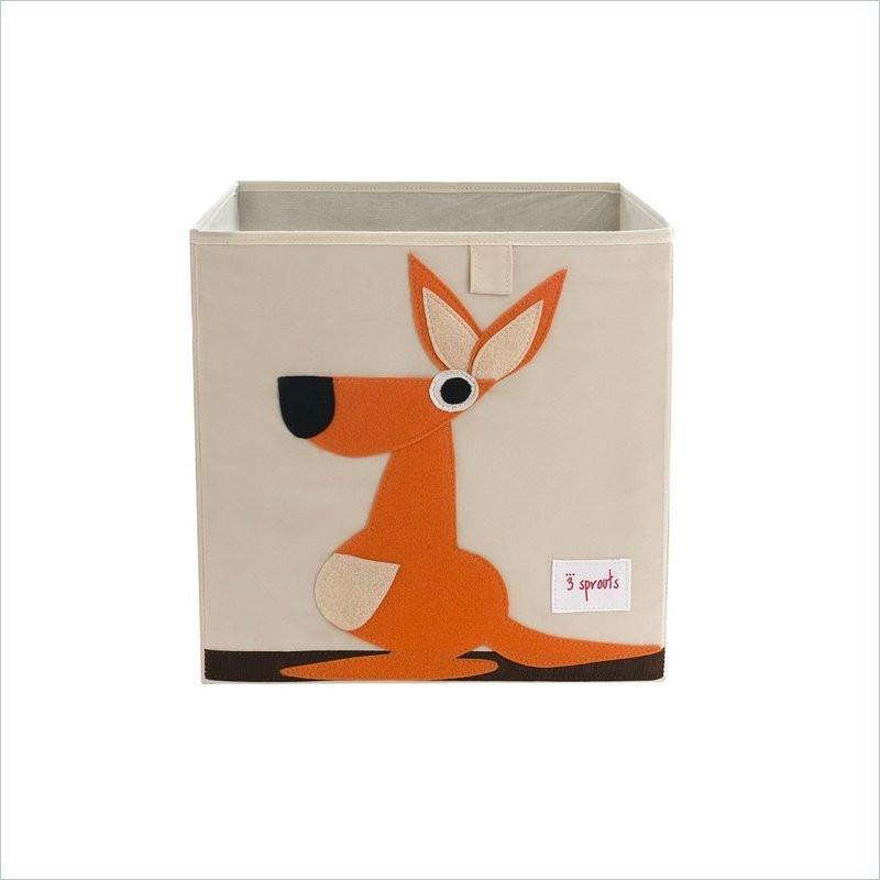 3 Sprouts Kangaroo Storage Box in Orange