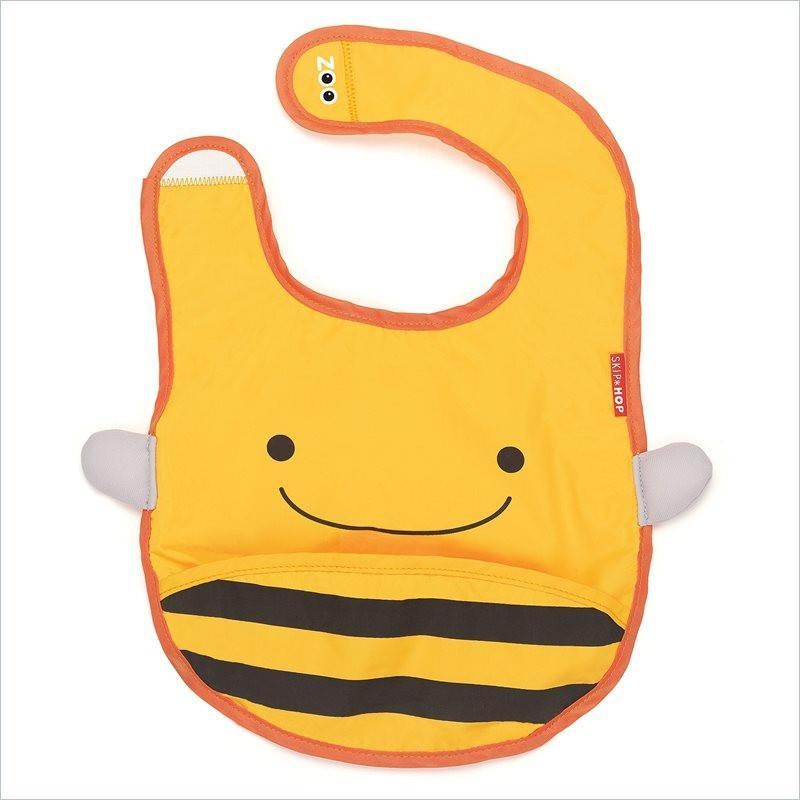 Skip Hop Zoo Tuck-Away Bibs in Bee