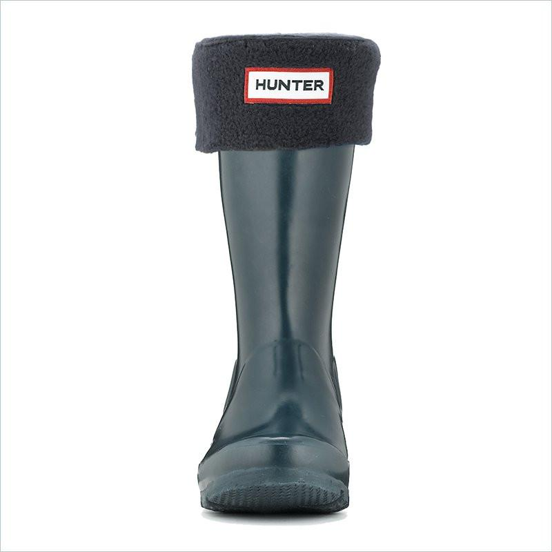 Hunter Kids Fleece Welly Socks in Black