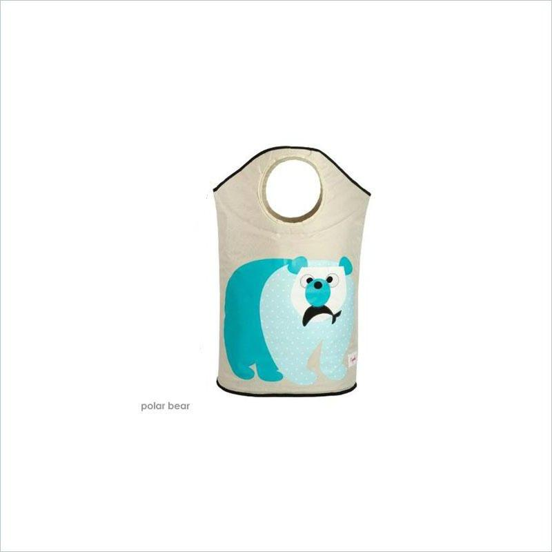 3 Sprouts Laundry Hamper in Polar Bear