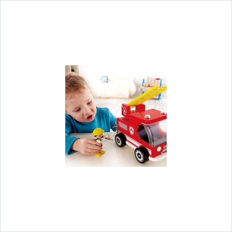 Hape Hook and Ladder Fire Truck
