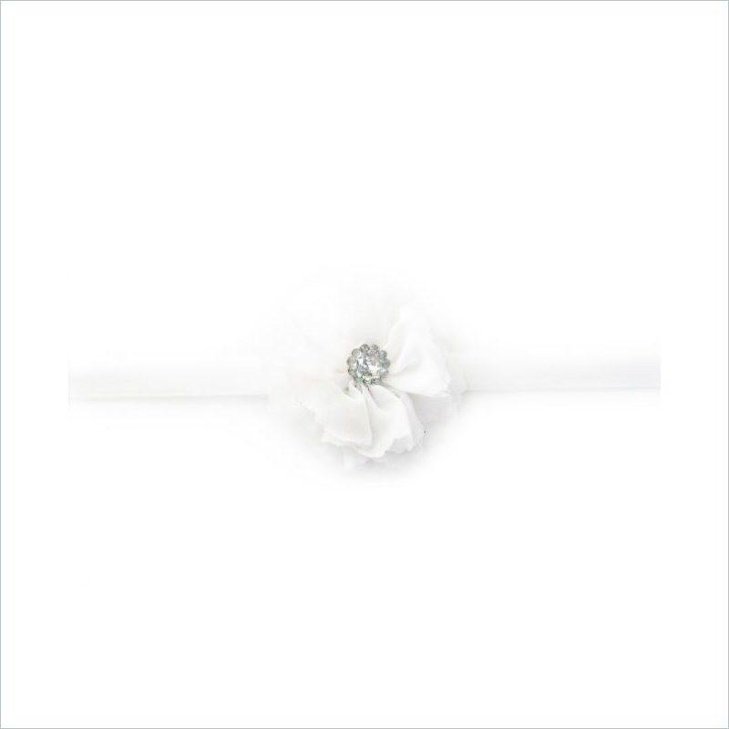 BabyWisp Dainty Snow Drop Headband in White