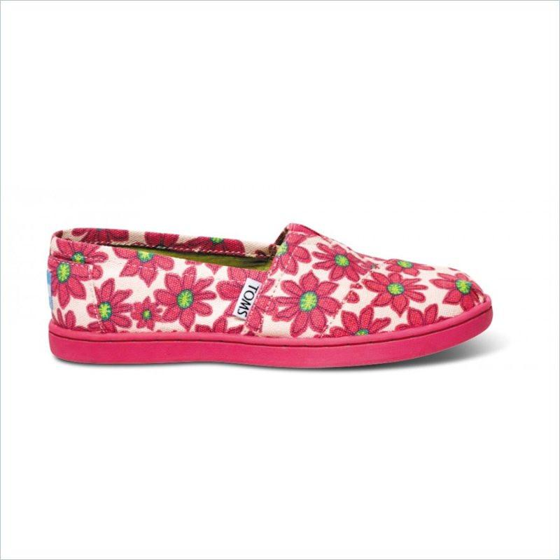 Tiny Toms Youth Classics in Pink Daisy