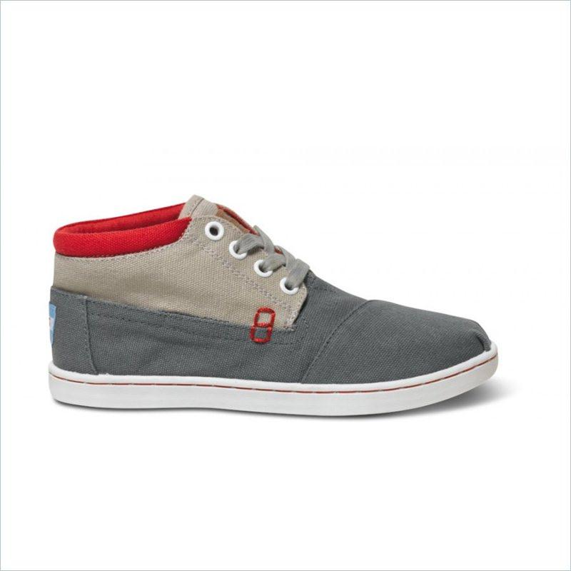Tiny Toms Block Youth Botas in Grey Color
