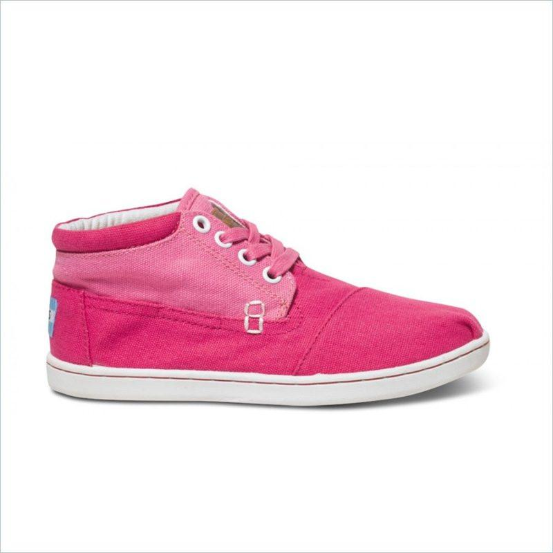 Tiny Toms Block Youth Botas in Pink  Color
