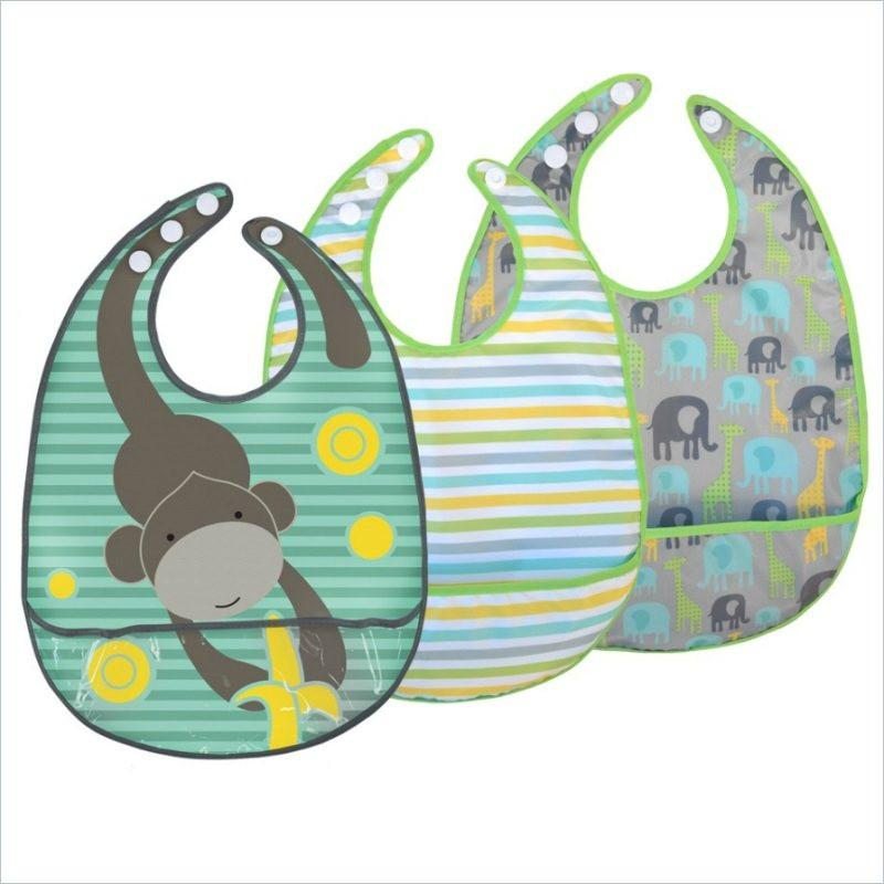 JJ Cole Bib Sets in Gray Safari