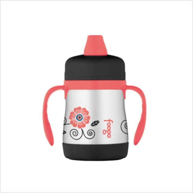 Thermos Foogo Phases Stainless Steel 7oz Leak-Proof Sippy Cup in Poppy Patch Design