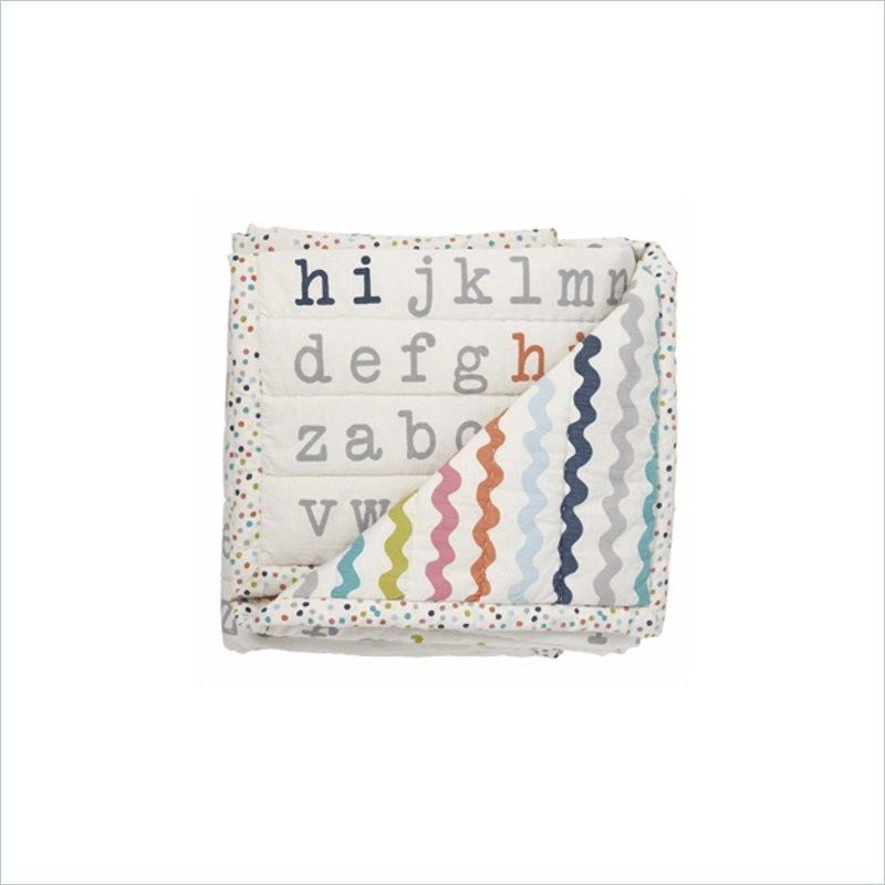 Pehr Hi Alphabet Blanket in Multi