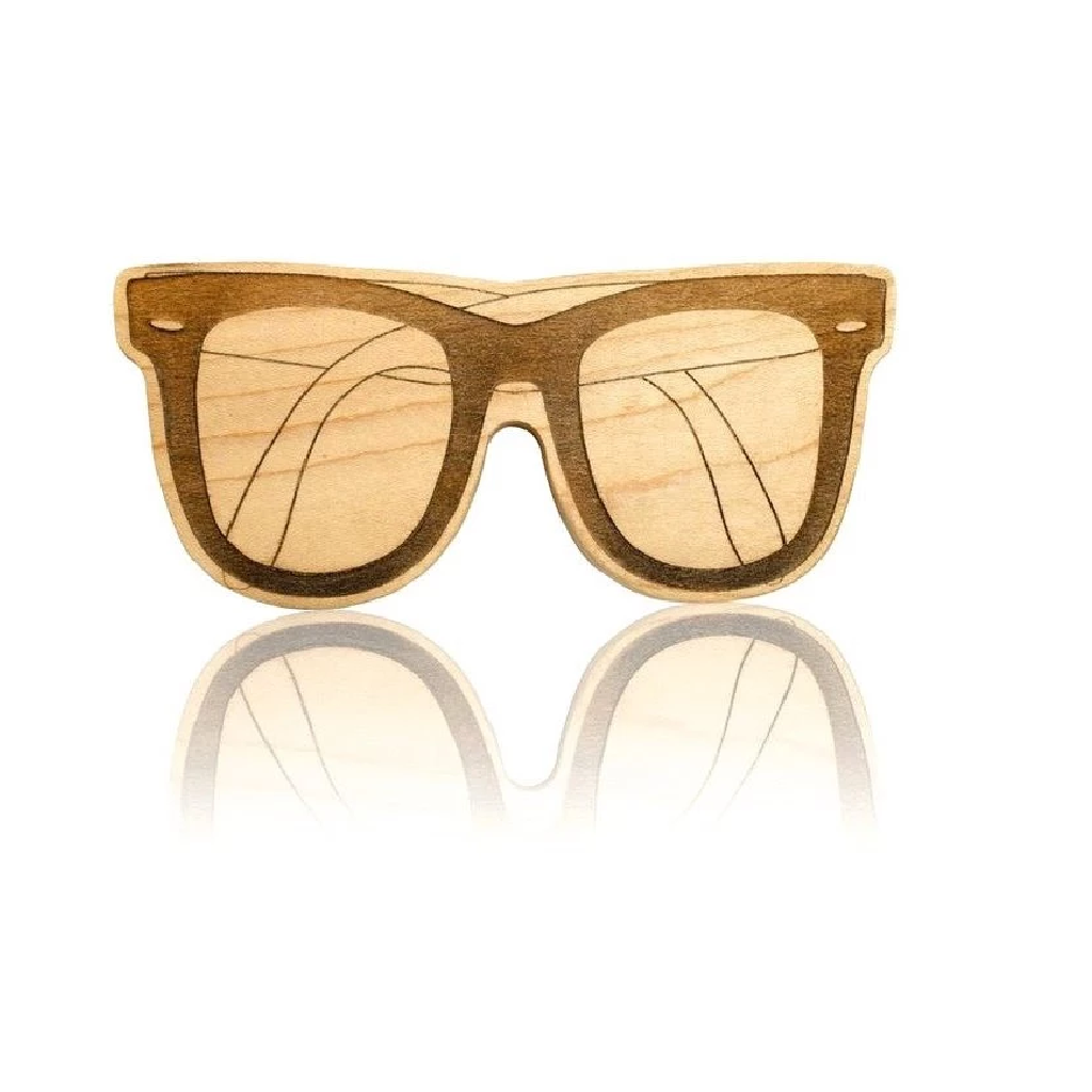 Lexypexy Eco Chic Wood Teether Leo Sunglasses